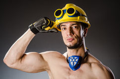 Ripped muscular builder man Stock Image