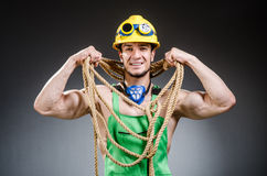 Ripped muscular builder man Stock Photos