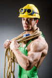 Ripped muscular builder man Royalty Free Stock Image