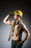 Ripped muscular builder man Royalty Free Stock Photos