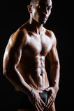 The ripped muscular man in sports concept Stock Image