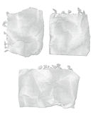 Ripped Notepad Paper. Collection of ripped and wrinkled notepad paper royalty free illustration