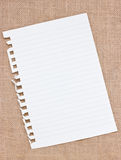Ripped Off Blank Paper. Royalty Free Stock Photography