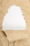Ripped old paper. Against a white background Royalty Free Stock Image