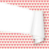 Ripped open paper hearts Royalty Free Stock Photo
