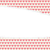 Ripped open paper hearts Stock Images