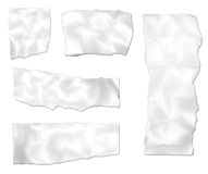 Ripped Paper. Ripped wrinkled paper images isolated on a white background royalty free stock photos