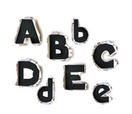 Ripped paper Alphabet, part of collection Stock Images