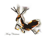 Ripped paper background, reindeer Christmas idea Stock Images
