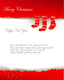 Ripped paper christmas background Royalty Free Stock Images