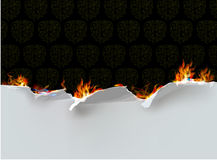 Ripped paper collection and flames. Ripped paper collection and fire Royalty Free Stock Images