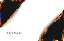 Ripped paper collection and flames,. Ripped paper collection and fire Royalty Free Stock Images