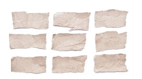 Ripped paper. Collection of grey ripped pieces of paper royalty free stock images