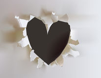 Ripped paper collection, Heart  sign Stock Photos