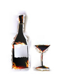 Ripped paper collection Wine and flames Royalty Free Stock Photo
