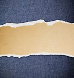 Ripped paper, jeans texture Royalty Free Stock Photo