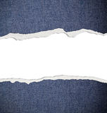 Ripped paper, jeans texture Stock Image