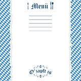 Ripped paper Oktoberfest background for menu Stock Photography