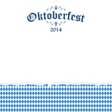 Ripped paper Oktoberfest background with text Oktoberfest 2014 Royalty Free Stock Photography