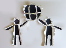 Ripped paper people Royalty Free Stock Images