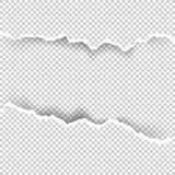 Ripped paper transparent with space for text, vector art and illustration. Royalty Free Stock Photography