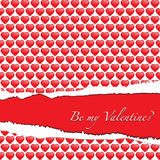 Ripped paper Valentine Royalty Free Stock Photos