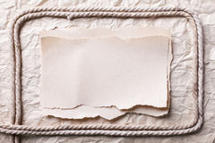 Ripped Piece Of Paper On Old Crushed Paper Stock Images