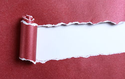 Ripped red paper Royalty Free Stock Images