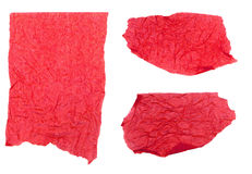 Ripped Red Tissue Paper Royalty Free Stock Photography