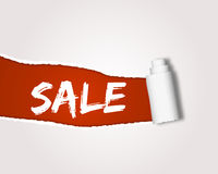 Ripped sale Royalty Free Stock Photography