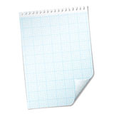 Ripped sheet grid Royalty Free Stock Photo