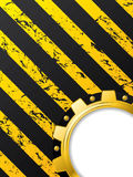 Ripped striped background with cogwheel Stock Image