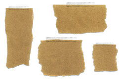 Ripped and Taped Paper Bag Collection. With drop shadow on white background royalty free illustration