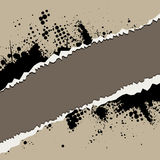 Ripped torn paper with ink spl Royalty Free Stock Images