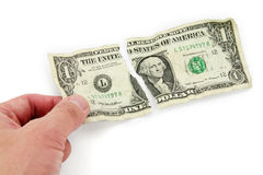 Ripped usa dollar Royalty Free Stock Photography