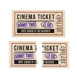 Ripped vintage paper ticket stub. Stock Image