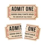 Ripped vintage paper ticket stub. Royalty Free Stock Photography