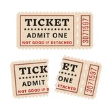 Ripped vintage paper ticket stub. Royalty Free Stock Image
