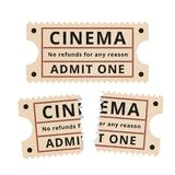 Ripped vintage paper ticket stub. Royalty Free Stock Photo