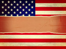 Ripped Vintage USA Flag Royalty Free Stock Photos
