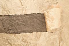 Ripped wrinkled paper Stock Photography