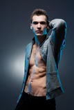 Ripped young guy. Royalty Free Stock Image