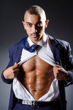 The ripped young man in studio concept Royalty Free Stock Photo