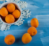 Rippen fresh apricots Stock Photos