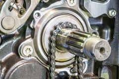 Rippenstück-Antriebsmotorradmaschine Lizenzfreie Stockfotografie