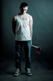 Ripper with an ax Royalty Free Stock Photo