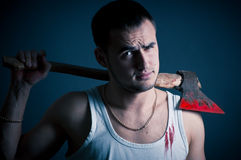 Ripper with an ax Stock Photos