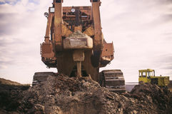 Ripper bulldozer in the construction Stock Images