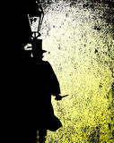 Ripper Grunge. Jack the ripper by the light of a gas street lamp Royalty Free Stock Photography