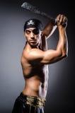 Ripper pirate. In the dark room Stock Photo